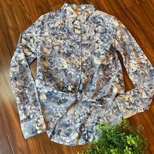 Joe Fresh Button Down Floral Shirt Size Small